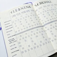 Are you searching for bullet journal ideas to keep your house clean & organized? Here are 15 bullet journal layout ideas to use as inspiration for your spring cleaning schedule. Bullet journal inspiration isn't exactly difficult to come by but there are some genius layouts to keep track of your cleaning & organizing all year long. #bulletjournal #bujo #bulletjournaling #hhmuk #organizing #springcleaning
