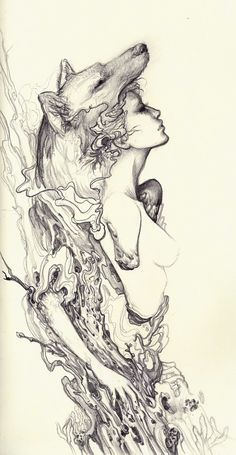 Fox Girl- All About Art Tattoo North Canterbury. New Zealand Illustrations, Illustration Art, Drawing Sketches, Art Drawings, Drawn Art, Art Inspo, Amazing Art, Fantasy Art, Concept Art