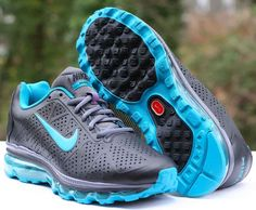 hot sale online 98f94 927f8 Nike Air Max 2011 Leather WMNS Running Shoes Size 8 Black Turquoise  456326-011   eBay