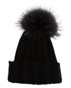 INVERNI | Cashmere and Fox Fur Beanie | Browns fashion & designer clothes & clothing