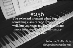 Many people find piano lessons quite expensive and because of this, a lot of would-be pianists pass the opportunity to become one of the best in the music industry. Playing the piano is a skill that can developed through time. Piano Memes, Piano Quotes, Piano Funny, Music Jokes, Music Humor, Flute Jokes, Funny Music, Band Jokes, Piano Player
