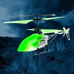 Helicóptero con mando a distancia y luz led, Fluorescente - http://teletiendaoutlet.com/Helicoptero-con-mando-a-distancia-y-luz-led-Fluorescente http://teletiendaoutlet.com