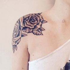 30 Black Rose Tattoo Ideas (3)