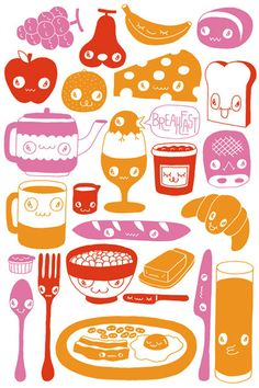 postics breakfast illustration