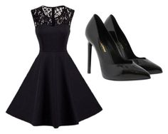 """Dark"" by kendrafamilette ❤ liked on Polyvore featuring Yves Saint Laurent"