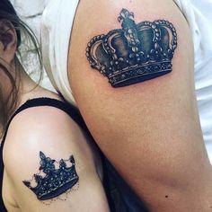 King & Queen Interlocking Tattoo