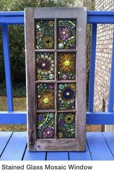Stained Glass Mosaic Windows see more at this site Mosaic Crafts, Mosaic Projects, Stained Glass Projects, Stained Glass Art, Stained Glass Windows, Mosaic Art, Mosaic Tiles, Fused Glass, Mosaics