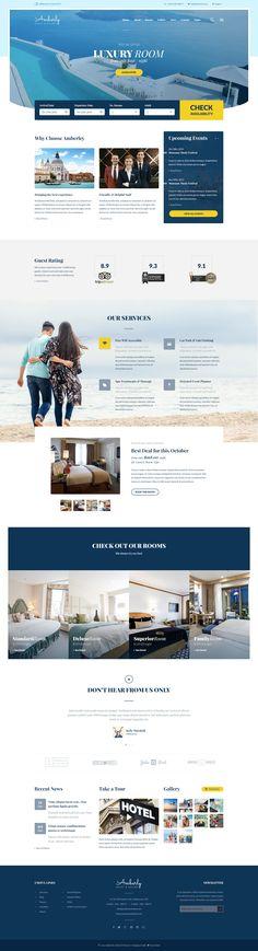 Amberley - Hotel & Resort PSD Template - PSD Templates | ThemeForest