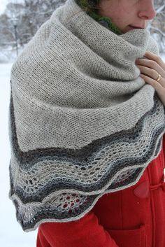 Free Pattern: Winter Joy Shawl. Instructions under 'Notes'