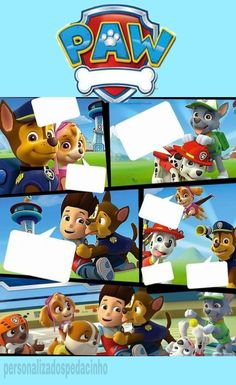 Cumple Paw Patrol, Background Images For Editing, Paw Patrol Party, Birthday Decorations, 2nd Birthday, Dogs And Puppies, Safari, Birthdays, Scrapbook