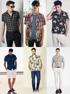 2015 Spring/Summer Recommended Wardrobe Additions: Short-Sleeved Printed Shirt Lookbook Inspiration