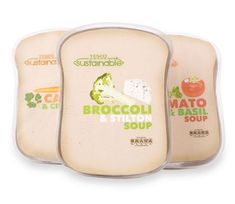 Concept packaging for a sustainable range of food for Tesco designed by Chris Cavilli
