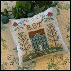 Little House Needleworks ~ ABC Samplers #7 RST