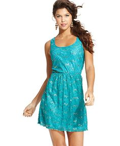 Sleeveless Sequin Lace Dress from Macy's