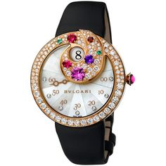Bvlgari Berries Jumping Hours Diamonds Pink Gold