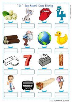 '' d '' Sesi Resimli Dikte Etkinliği özgün çalışmamdır aşağıda bulunan indir butonundan indirebilirsiniz. Tüm çalışmalarımızı kendi emeklerimizle özgün olarak hazırlıyoruz bu yüzden; Sitemizde Bulunan.. Turkish Lessons, Turkish Language, Primary School, First Grade, Phonics, Booklet, Activities For Kids, Homeschool, Student