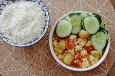 Curry met bloemkool, tofu en krieltjes