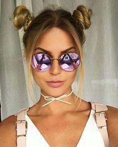 #pigtail bun #hair #cabelos #trend #summer2017 #verão #hairstyle #blog #falandodemodaa