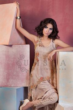 This Eid watch out from Umsha by Uzma Babar's luxury pret Eid collection in store at their flagship studio in Bukhari Commercial Area, Karachi. Consisting of asymmetric cotton net open shirts, embroidered sleeveless organza jackets, and detailed statement pants. We love how she has embraced the scalloped hemline and worked the buttoned and organza insert trouser trend. Playing around […]