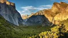 Journey along State Route 41 and you�re in for a treat: The viewpoint known as Tunnel View offers a breathtaking snapshot of Yosemite Valley and several of its attractions -- El Capitan, Half Dome and the waterfall Bridalveil Fall (pictured, right).