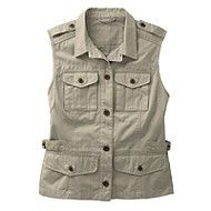 Women's Bush Poplin Safari Vest
