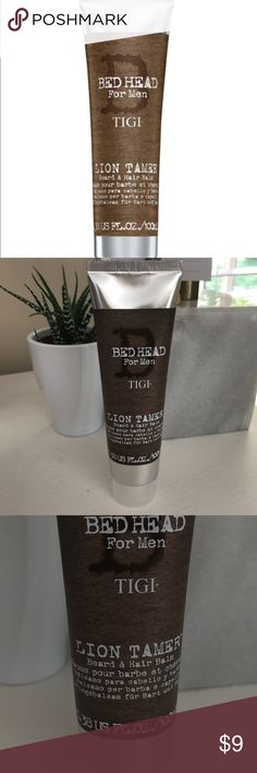 Bed Head for Men Lion Tamer Beard & Hair Balm. NEW New. Never opened. Sealed! Bed Head for Men Lion Tamer Beard & Hair Balm is the first balm designed for both beard and hair, light control and conditioning for hair and beard. Ideal for fuller beards requiring control, Lion Tamer refreshes, nourishes and softens hair, beard and skin. Bed Head Other