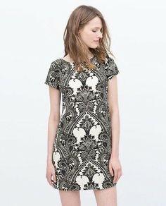 Ex Marks And Spencer Black Floral Jacquard Shift Dress Size 6-18 RRP £60