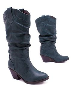 leatherette cowgirl boot 6 GREEN >> More infor at the link of image  : Cowgirl boots