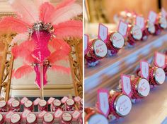 small jars of personalized candy as favors