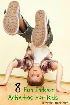 8 Fun Indoor Activities for Kids #activities #indooractivities #kids #fun