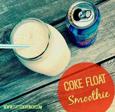 coke float protein smoothie with @myMix Nutrition