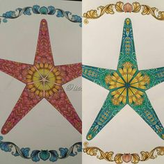 """@mrs_missy_d has finished her starfish too and it looks fab! It's so much fun colouring the same page with someone else   #adultcolouring…"""
