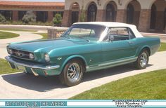Twilight Turquoise 1965 Mustang GT Convertible