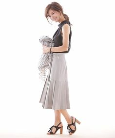 nano・universe  Ladys(ナノユニバースレディース)のラッププリーツスカート(スカート)|詳細画像