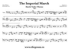 diegosax: The Imperial march easy Johnn Williams score for Flute, alto saxophone, trumpet, clarinet, violin, trombone, tenor sax and flute transverse flute, viola, cello, oboe, tuba, flugelhorn, bassoon, baritone, soprano sax, Baritone ... to play with The Imperial March music Sheets Sheet Music Star Wars Music scores Bassoon, Oboe, Trombone, Clarinet, Saxophone Sheet Music, Soprano Saxophone, Tenor Sax, Star Wars Music, The Imperial March