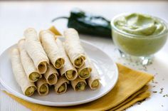 Mashed Potato and Poblano Flautas