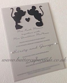 * NEED TO KNOW IF THEY CAN DO CUSTOM OTHER PAPER PRODUCTS TO MATCH* Disney Inspired Wedding Invitations Reception by ButtercupsCards