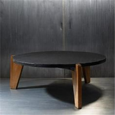 Jean Prouvé; Oak and Slate Coffee Table, 1944.