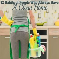 Have you always longed for a clean and organized home? The habits of people who always have a spotless house may surprise you. I'm particularly fond of habit #5 but am most aware of habit #12. What's your favorite cleaning habit?