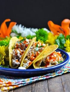 Buffalo Ranch Chicken Tacos Easy Healthy Dinners, Nutritious Meals, Healthy Dinner Recipes, Vegetarian Recipes, Weeknight Dinners, Chicken Ranch Tacos, Buffalo Ranch Chicken, Slow Cooker Recipes, Crockpot Recipes