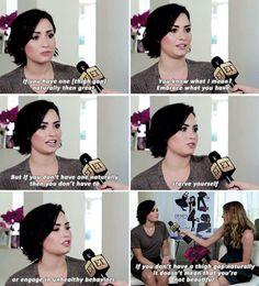 Demi Lovato on thigh gaps