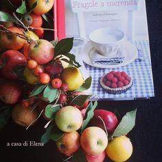 """""""Fragole a merenda"""" e la ghirlanda di mele di Elena #quifragoleamerenda"""