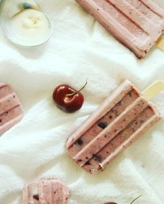 "#regram via @mommalewsblog ""Cherry Vanilla Ice Pops are new on the blog today. """
