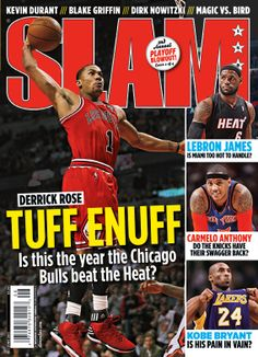 SLAM 158: Chicago Bull Derrick Rose appeared on the cover of the 158th issue of SLAM Magazine (2012, cover 2 of 4).