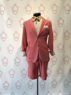 Completo bermuda e giacca uomo rosso chiaro koon