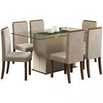 Conjunto de Mesa com 6 Cadeiras Polônia - Madesa