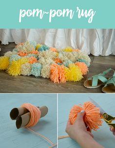 DIY Pom-Pom Rug   Babble