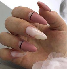 Make me such ⠀ # nail # nailart # nails # french # gellac # extension nail # manicure # design nail # shellac # nailpolish # nailart . Acrylic Nail Shapes, Cute Acrylic Nails, Cute Nails, Pretty Nails, Perfect Nails, Gorgeous Nails, Hair And Nails, My Nails, Almond Nails Designs