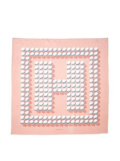 Hermes Women's Carre Scarf, Pink/Grey/White at MYHABIT