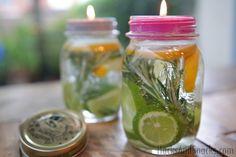 All-Natural Mosquito Repellant Mason Jar